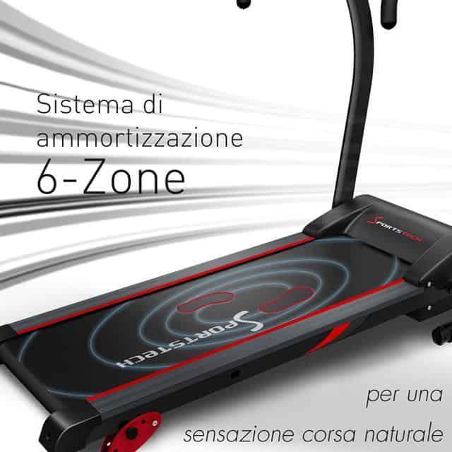 Sportstech F15 sistema ammortizzazione 6 zone