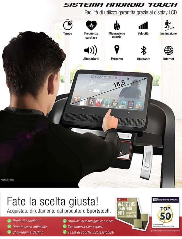 Sportstech F50 sistema android
