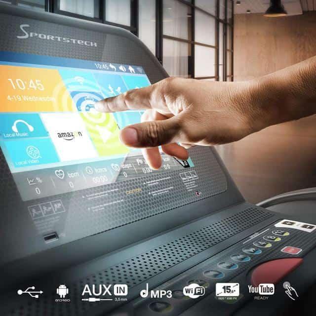 Sportstech F75 display e programmi
