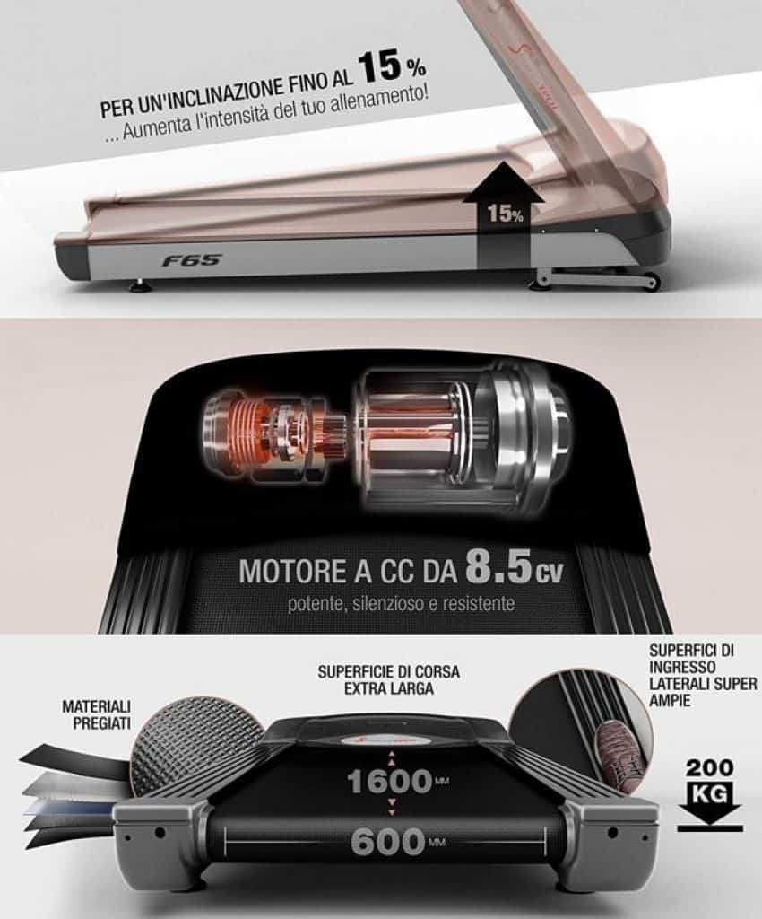 Sportstech-F65-motore-e-inclinazione-e-superficie-