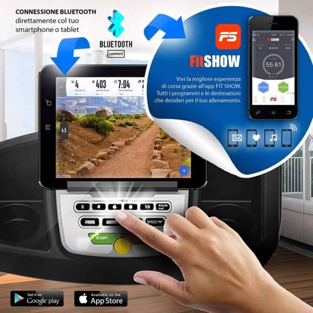 Sixtus tapis roulant app fitshow